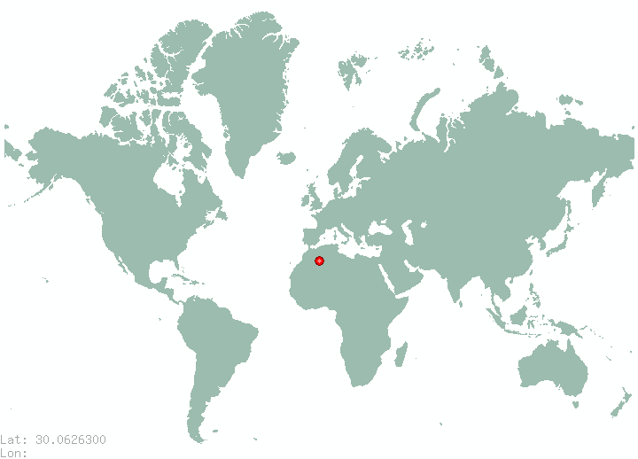 Cairo in world map